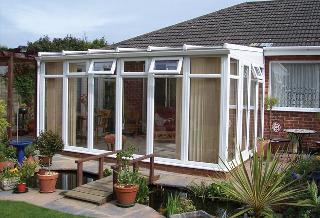 Non nonsense lean to conservatories.
