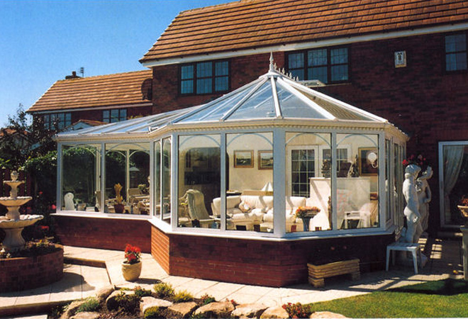 UPVC P-Shaped self build conservatory kits.
